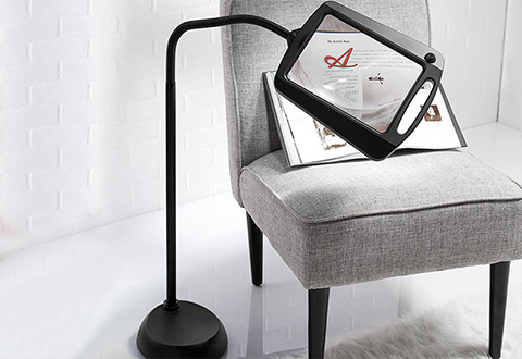 Full Page Floor Magnifying Lamp Sharper Image