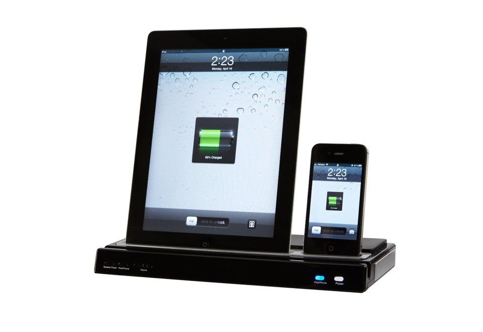 Iphoneipad docking station with speakers sharper image publicscrutiny Images
