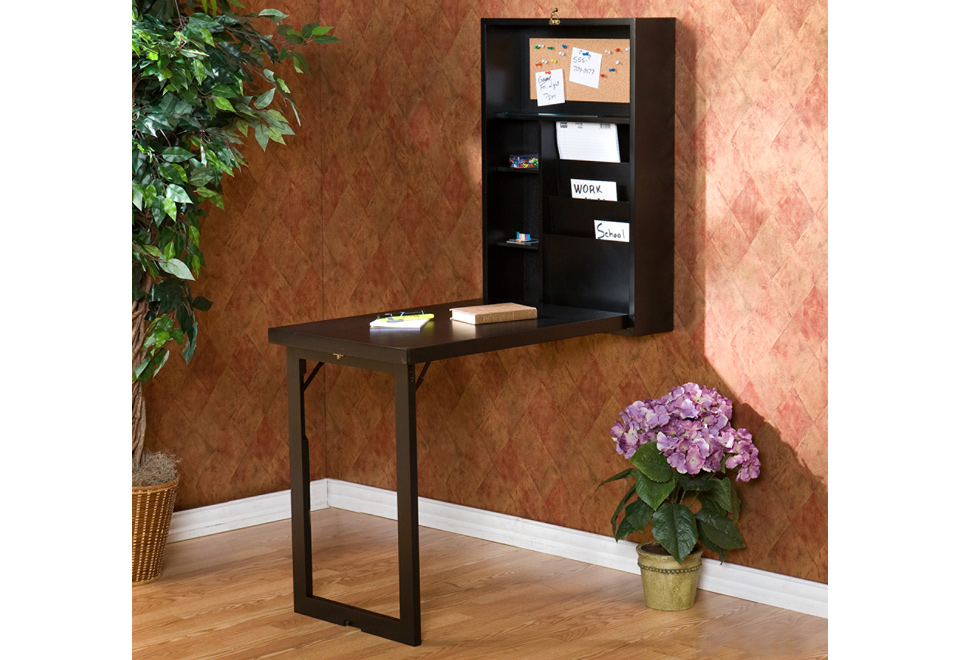 Wall Mounted Fold Down Desk At Sharper Image