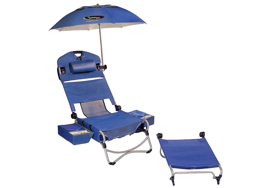 5fa8caf9d0c Wheeled Beach Chair Lounger   Sharper Image