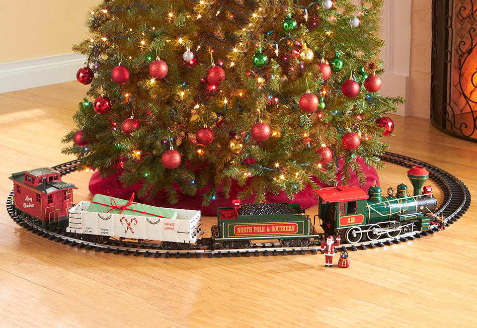 night before christmas train sharper image - Christmas Train Decoration