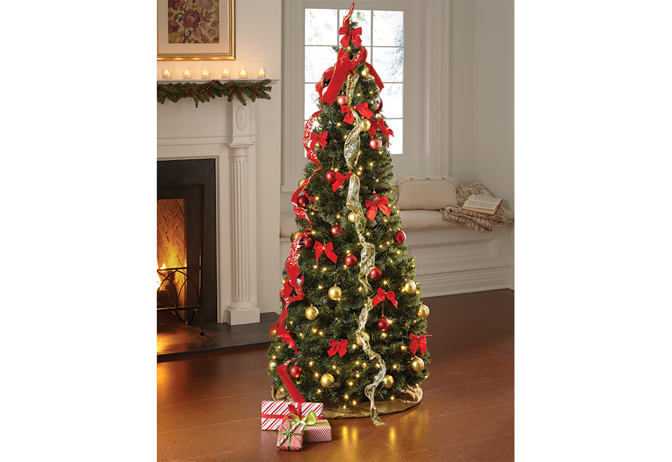 pop up 6 ft led christmas tree sharper image - Pop Up Decorated Christmas Tree