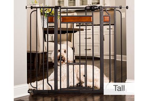 Walk Thru Pet Gate With Small Pet Door Sharper Image