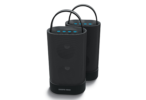 Sharper Image Indoor Outdoor Wireless Speakers Set Of 2 At Sharper