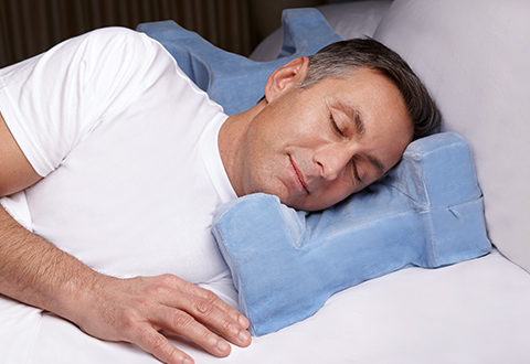 Pillow prevents facial wrinkles