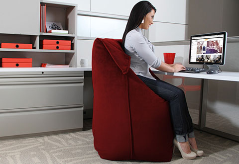 Giant Bean Bag Office Chair Sharper Image