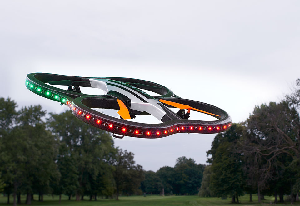Video Camera Drone with LED Lights @ Sharper Image