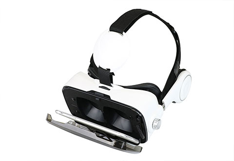 Smartphone Vr Headset With Earphones At Sharper Image