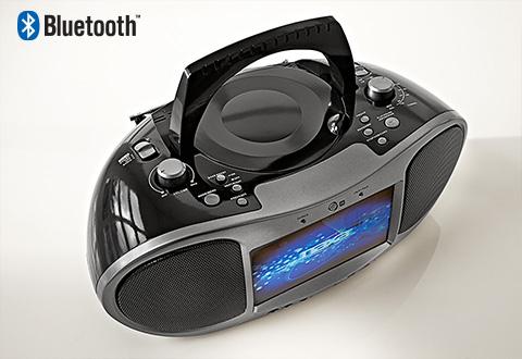 Bluetooth Cd And Dvd Boombox Radio At Sharper Image