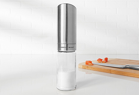 Gravity Controlled Salt Or Pepper Mill At Sharper Image
