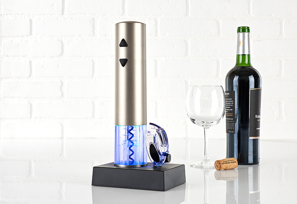 Rechargeable Wine Opener With Foil Cutter At Sharper Image