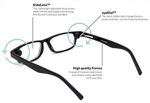 0907310a061 Adjustable Focus Reading Glasses   Sharper Image