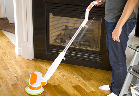 Cordless Scrubbing Mop And Polisher Sharper Image