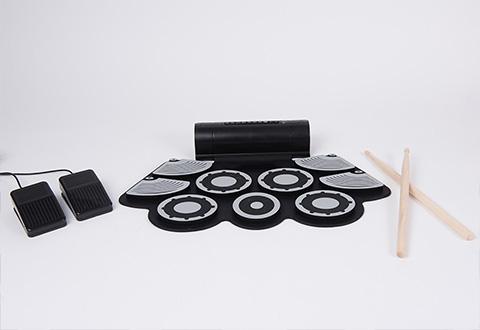 professional rechargeable drum pad studio sharper image. Black Bedroom Furniture Sets. Home Design Ideas