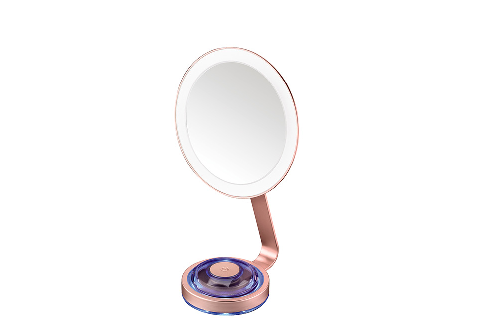 Led Vanity Mirror With Magnetic Spot Mirror Sharper Image