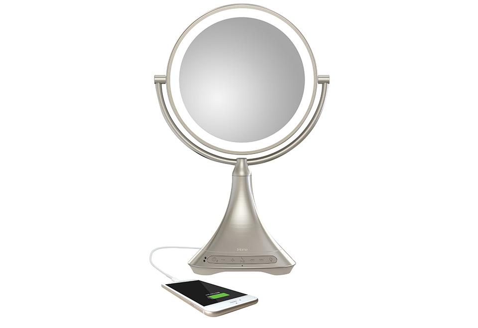 Sharper Image Makeup Mirror.Vanity Mirror With Bluetooth Speaker Sharper Image