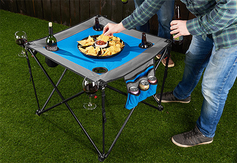 Folding Pop Up Tailgate Table
