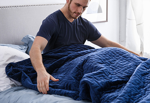 The Most Luxurious Stress Relieving Weighted Blanket At Sharper Image