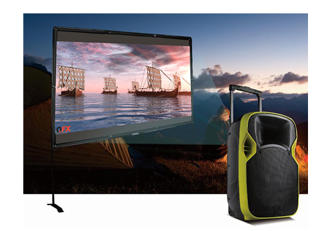 portable drivein movie theater sharper image