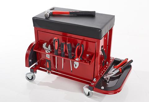 Rolling Toolbox Stool Sharper Image